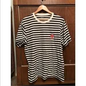 Black and white striped andy warhol tee